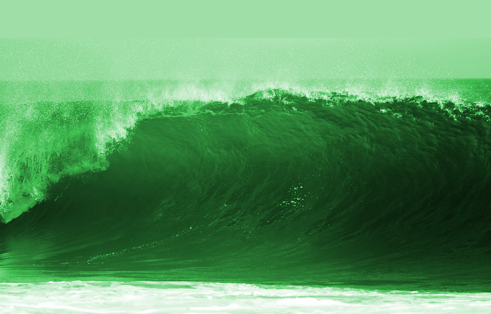 ocean wave tallish green